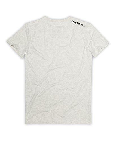 CHICKENDICK KITESURF Kitebeach T-Shirt bright grey Grey