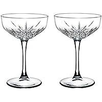 "'Pasabahce 440236–Cubitera para champán ""Timeless en cristal de diseño, altura aprox. 15,7cm, (2unidades, cristal"