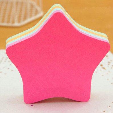 Cute modellazione color messaggi Adesivi Notes Sticky Notes Sticky Note Multi-Shape 140pagina (Adesivo Star Shapes)
