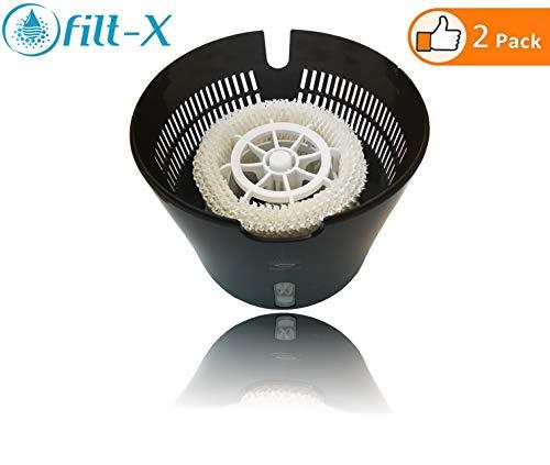 [2 Filter] - Filt-X Luftbefeuchter Filter für Philips Luftbefeuchter HU4813, HU4811, HU4803, HU4801