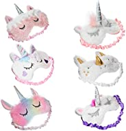 6-pack kids sleep mask for sleeping girls women eye mask covers unicorn game supplies-weighted-cute-eyemasks