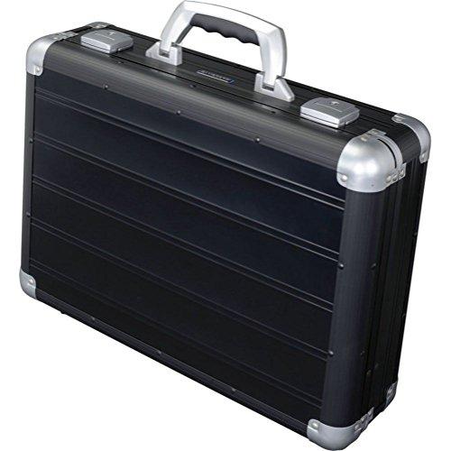 Alumaxx Attaché Laptopkoffer VENTURE aus Aluminium, circa 33, 5 × 45, 5 × 13, 5 cm Aktentasche, 46 cm, 17 L, Schwarz Matt (Attache Aktenkoffer)