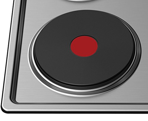 41MQ18cIEDL - Cookology 60cm Solid Plate Hob, Hotplate Cooker, 4 Zone, Electric, Built-in, 600mm (Stainless Steel, 60cm)