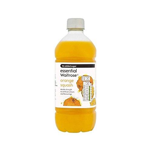 Orange Doppelter Stärke Squash Wesentliche Waitrose 750Ml (Packung mit 6)
