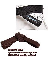 bde1714b6be0 mmasport Ceinture karaté Belt Aikido karaté Gi 100% Coton 3,5 mm Couleurs  différents