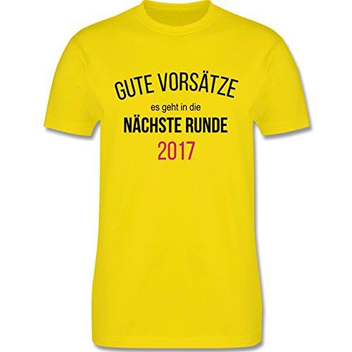 Weihnachten & Silvester - Lustiges Neujahr Motiv - Herren Premium T-Shirt Lemon Gelb