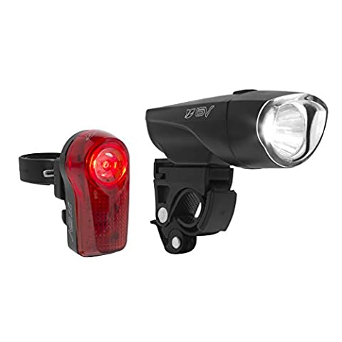 BV SUPERT BRIGHT Headlight and Taillight Safety Bike Light Set, LED Bicycle Lights, Quick-Release, Weather Resistant
