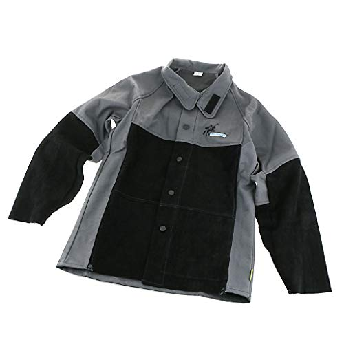 B Blesiya Giacca Di Saldatura Ignifuga Saldatore Tuta Abbigliamento Da Lavoro Prodotti Chimici