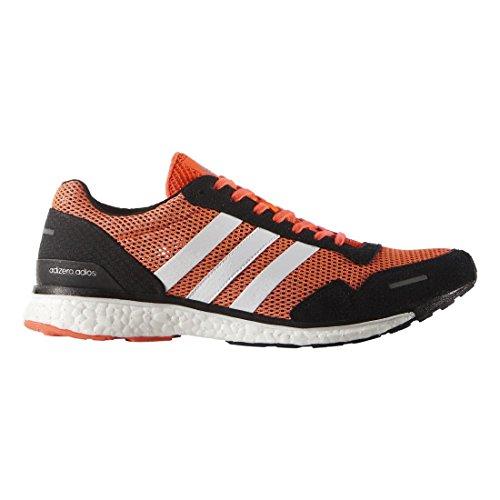 Adidas Adizero Adios 3 M scarpa da running, solare rosso / nero / bianco, 7 M Us Solar Red / Black / White