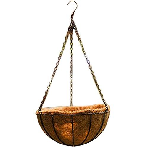 Da.Wa Fer Classique Basket Blacksmith Pendaison,Panier suspendu,Pot de fleurs suspendues,Panier suspendu aux plantes