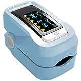 GAYY Oxímetro de pulso de dedo digital con baterías de pantalla LED y medidor de glucosa en sangre Lanyard, B,UN
