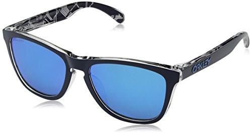 Oakley Men's Frogskins (a) Non-Polarized Iridium Rectangular Sunglasses, UC Milan Navy, 54.5 mm