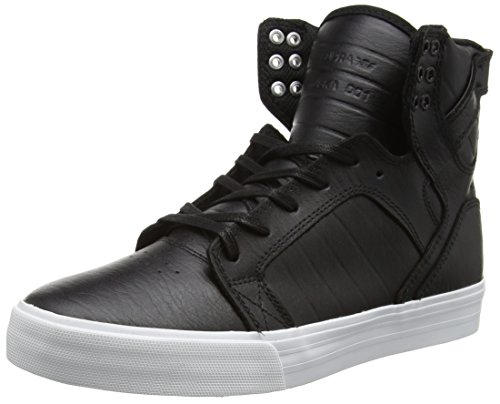 Supra Unisex Adults' Skytop Low-Top Sneakers, Black (Black – White BKW), 11 UK