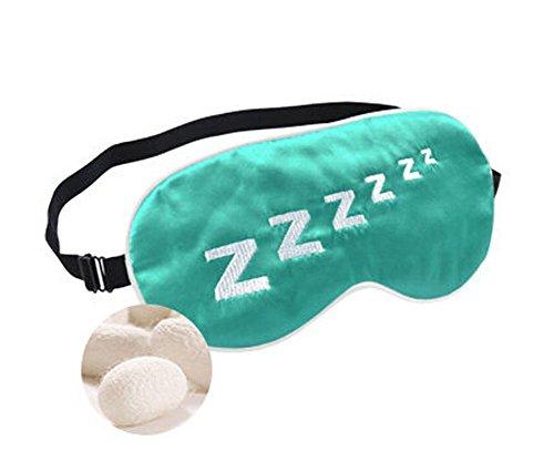 Charmant Double soie cache oeil / cache oeil pour dormir, Z vert