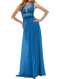 Charmant Damen Chiffon Steine Langes Brautmutterkleider Abendkleider  Promkleider Tanzenkleider b014a60a4c