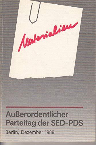 Außerordentlicher Parteitag der SED/PDS. 8./9. und 16./17.12.1989 ; Materialien ; Statut der SED/PDS.