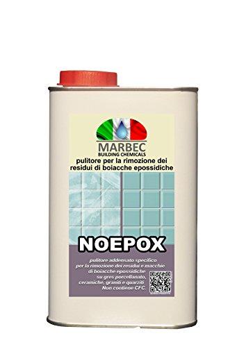 Marbec - noepox 1lt | pulitore per la rimozione dei residui di boiacche epossidiche