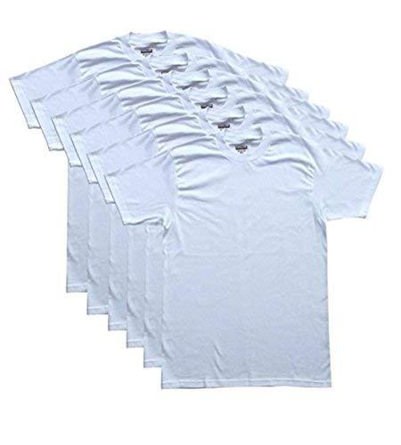 Kirkland Men's Crew Neck White T-Shirts (Pack of 6) Small, White
