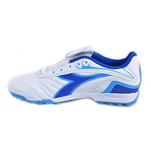 Diadora - Diadora Chaussures de football a cinq petit garçon Clasico TF JR 156027 Blanc Blue Blanc