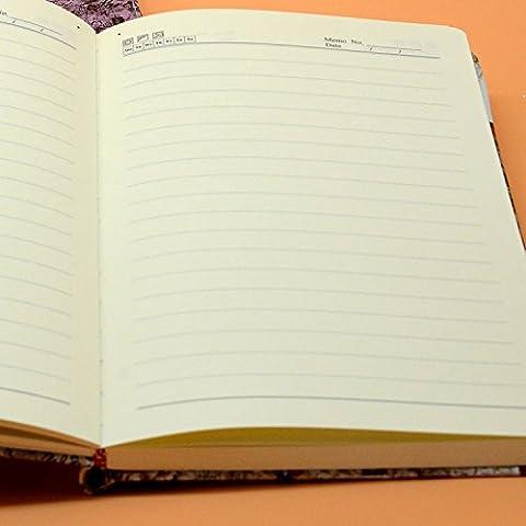 LIU-Impermeabile in pelle blocco note un diario il libro stampato