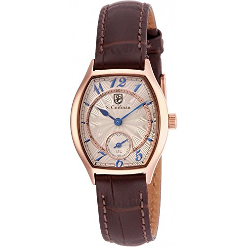 S Coifman SC0327 Ladies Brown Leather Strap Watch