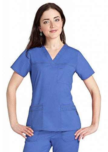 41MQ8I8jhyL BEST BUY UK #1Adar Pop Stretch Junior Fit TaskWear Scrub Top   3202   Ceil Blue   XXS price Reviews uk