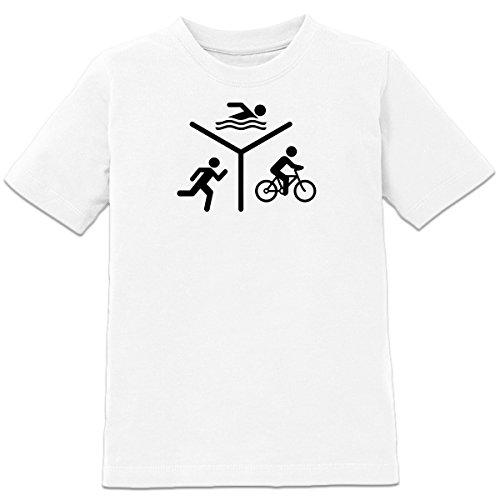 Shirtcity Triathlon Silhouette Logo Kinder T-Shirt by