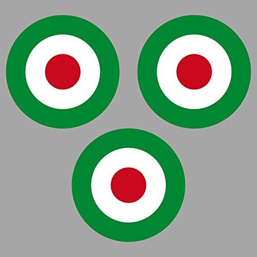 Aufkleber Sticker 4cm Target Mod It Italia Italy Italien Roller Vespa Symbol Zeichen Auto Motorrad (3)