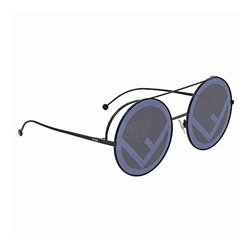 Fendi ff 0285/s md 807, occhiali da sole donna, nero (black/gy grey), 63