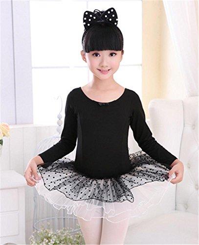 Robe de danse pour enfants / Ballet d 'entraînement pour enfants tutus longtemps black