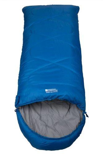 Mountain Warehouse Sac de couchage Enfant Summit randonnée camping Bivouac Trekking Voyage Aventure Rectangulaire Chaud Léger Compact Bleu Taille Unique
