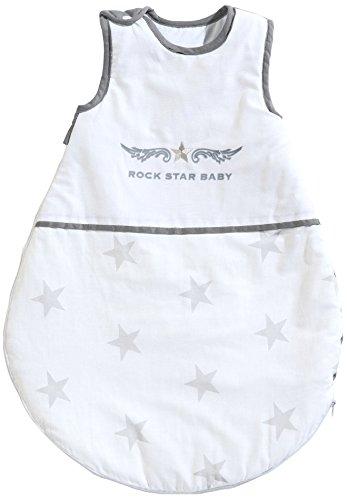 Preisvergleich Produktbild roba Schlafsack,  70cm,  Babyschlafsack ganzjahres / ganzjährig,  aus atmungsaktiver Baumwolle,  Schlummersack unisex,  Kollektion 'Rock Star Baby 2'