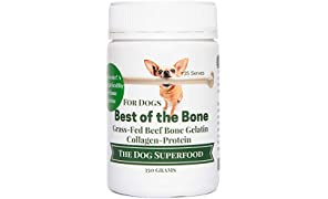 """""""Bone Broth for Dogs"""" - Helps Maintain Your Dogs Heath - Grass Fed Beef Gelatin, Collagen and Amino acids - 350 Gram"""