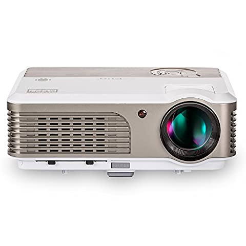 Full HD Video Projector 1080p Support 2600 Lumen HDMI LCD LED Projector for Home Cinema, Entertainment, Gaming, Outdoor Movies Red Blue 3D Support