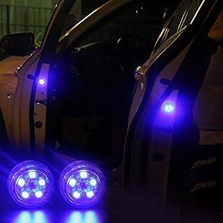 Funrunnstore Kostenlose modifikation wireless Auto-Styling LED-Licht Antikollision Autotür Licht (blau)