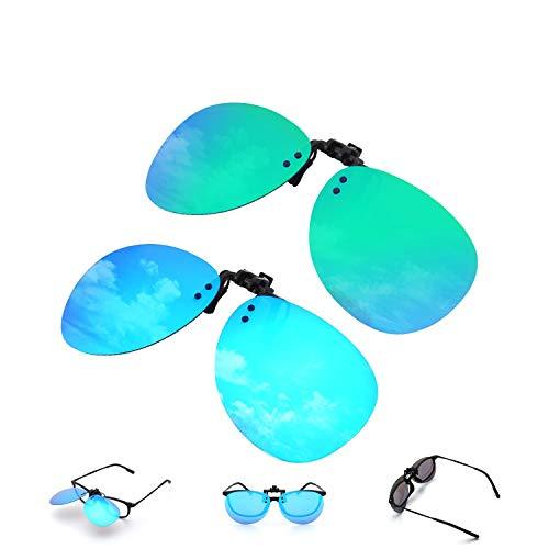 Tclothing Polarisierte angeklippt Flip Randlose Flieger Objektiv Außen Fahren Angeln Sonnenbrillen