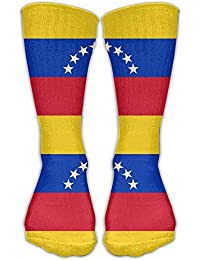 guolinadeou Venezuela Flag Knee High Socks For Mens Womens Adult Cotton Sports Long Socks For Yoga
