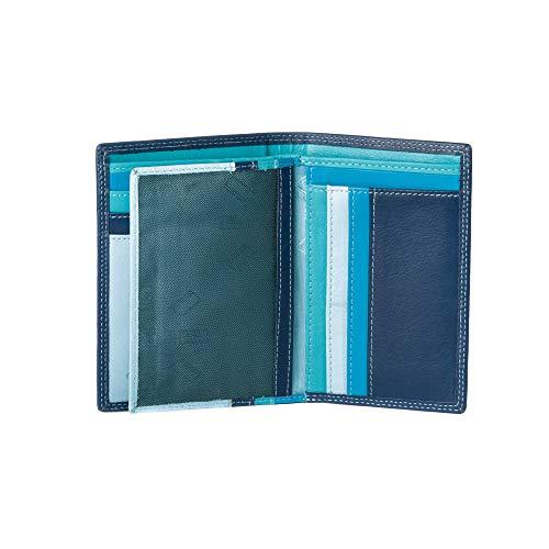 877202cc84 Portafoglio da uomo a libro in pelle multicolore con lampo DUDU Blu.  Visualizza le immagini