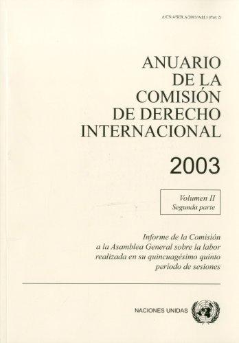 Anuario de La Comision de Derecho Internacional 2003 (United Nations Office in Geneva) por Not Available