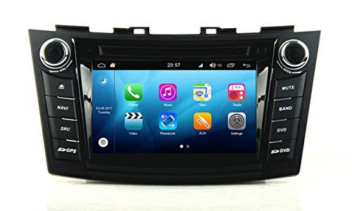 Roverone Quod Core Android System 7 Zoll Doppel DIN Auto DVD Player für SUZUKI SWIFT 2011-2016 mit Autoradio GPS Navigation Radio Stereo Bluetooth SD USB Spiegel Link Touch Bildschirm (2015 Auto Doppel Din Stereo)