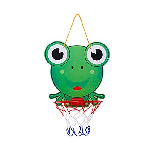 Einstellbare Hängende Mini Basketballkorb Basketball Netball Hoop Set Spielzeug Indoor Outdoor Basketball Box Board Rückenbrett Sport Training Ball Spiel mit Ball und Pumpe Geschenke für Kinder Jungen (Frosch) (Mini-basketballkorb Outdoor)