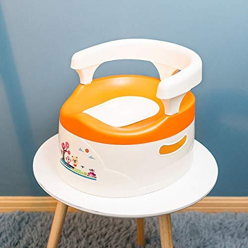Kinder-Toilette - Einteiliges Pull-Typ-Baby-WC Abnehmbares Töpfchen-Baby-Urinalreinigung Praktisches kleines WC (Farbe : Orange)