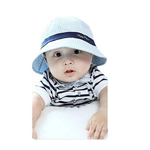 Tonsee Baby Junge Mädchen Bengel Frühling-Sommer-Töpfe Mütze Baumwolle Sonne Visier Mützen (Blue)