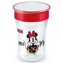 NUK Disney Minnie Magic Cup Trinklernbecher, 360° Trinkrand, 230ml, 8+ Monate, BPA-frei, Auslaufsicher, abdichtende Silikonscheibe, Rot