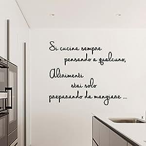 Adesiviamo 1576 m si cucina sempre pensando a qualcuno for Adesivi muro cucina