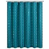 CQSMOO Stoff Duschvorhang Dunkelgrüner Punkt Polyester kontinentale Dicke Wasserdichte Form Badezimmertrennwand (Größe: 200 * 180cm) by (Größe : 200 * 180cm)