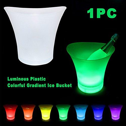Cubitera de hielo con luz LED que cambia de color, funciona con pilas, 7 colores