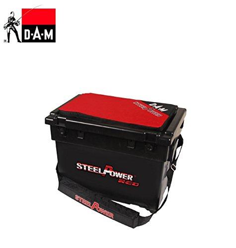 Steelpower Red Beach Box mit 2 Seitenfächern