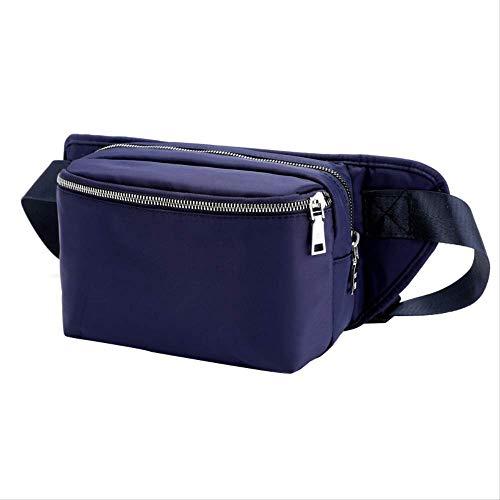 RERU Hüfttasche Box Stil Taille Packs Frauen Kurze Designer Gürtel Taille Tasche Multi Zipper Pouch Nylon Frauen Einzigen Gurt Brust W Navy Blue (Nike Gürtel Wasser)