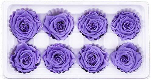 Jiaxingo DIY gefälschte Blume Bad Seife Blume mit Grußkarten für Hochzeit Mittelstücke Bridal Shower Party Home Dekorationen (Lila) (Lila Mittelstücke Hochzeit Für)